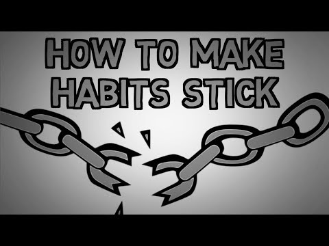How To Stick To Your Habits - Don't Break The Chain Method (animated)