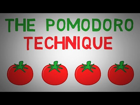 The Pomodoro Technique - Study And Productivity Technique (animated)