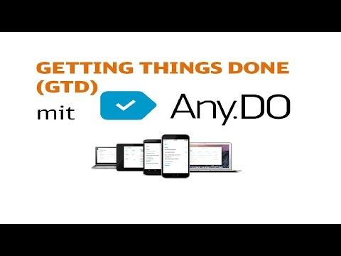 Anydo und Getting Things done. Wie nutzt man Any.do für GTD (David Allen Hilfe Deutsch German)