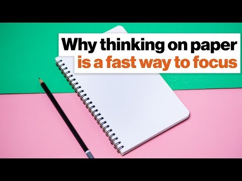 Why thinking on paper is a fast way to focus | Ryder Carroll