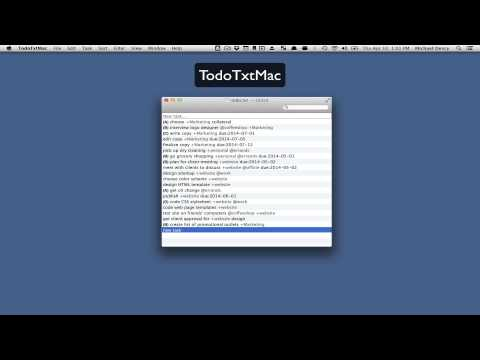 TodoTxtMac Introduction and Basic Commands
