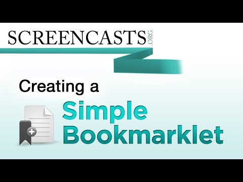 Creating a Simple Bookmarklet