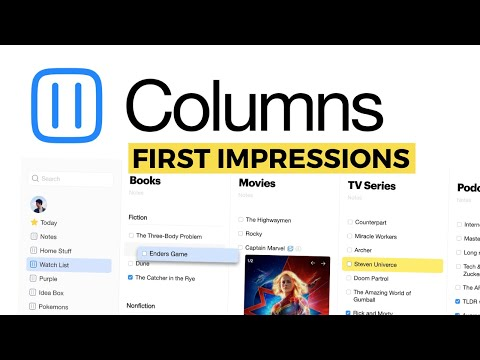 Columns.me Review: A new type of checklist app