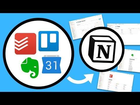 Notion = Evernote + Todoist + Trello + Google Calendar