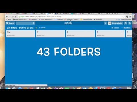 43 Folders in Trello
