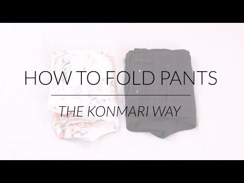 How to Fold Pants | KonMari Method by Marie Kondo