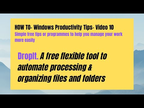 HOW TO DropIt file & folder management tool