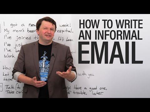 How to write informal emails in English