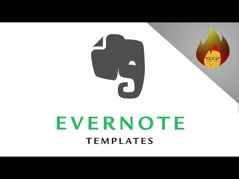 Evernote TEMPLATES How to Create them Yourself | EVERNOTE PC