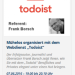 Webinar zu Todoist: Gewinnen Sie eine Premium-Version (Update!)