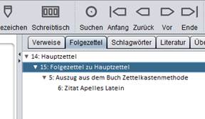 Screenshot Zettelkasten