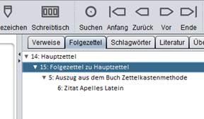 Screenshot Zettelkasten